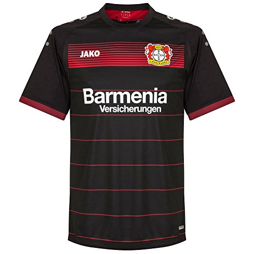 "Jako Kinder Fußballtrikot ""Bayer 04 Leverkusen Home Trikot"" Saison 2016/2017 schwarz/rot (701) 164"