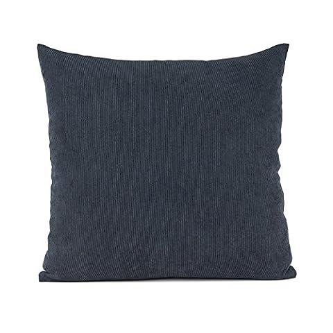 Baibu Einfach Dekorativ Sofa Kissenbezug Kissenhülle mit verdecktem Reißverschluss aus Kord in 10 modernen Farben und 6 Größen 40x40cm