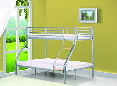 Single 3ft / Double 4ft6 Triple Metal Bunk Bed - Triple Sleeper