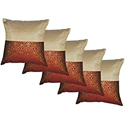 Durable Dupian Silk Embroidery plain printed Decorative Square Throw Pillow Cover Cushion Case Sofa Chair car Seat Pillowcase 18 X 18 Inches 45cm x 45cm set of 5