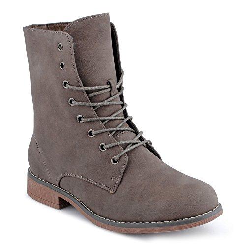 Fusskleidung Damen Schnürstiefel Blockabsatz Stiefeletten Biker Boots Stiefel Schuhe TAUP EU 38 (Stiefel Frühling Schuhe)