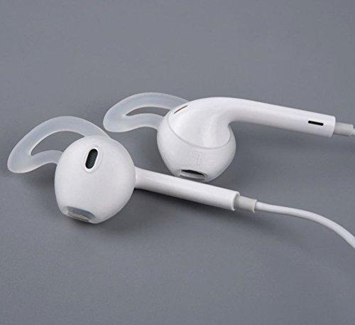 KRS EP5-Transparent 2 x In-Ear Gummi Silikon Ohrpolster für Iphone 6 7 8 X Ohrhörer für Earpods (Transparent) - 2