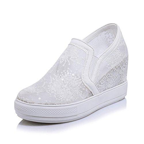 Femmes respirantes mesh sandales/Chaussures avec invisible talon haut/Les souliers/Chaussures de princesse A