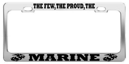 Lionkin8den wenigen, die Stolzen, die Marine Vereinigten Staaten US Army Stahl Nummernschild Rahmen -