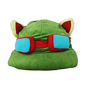 Charms Costume League of Legends LOL Teemo Cosplay HAT 100% NEW