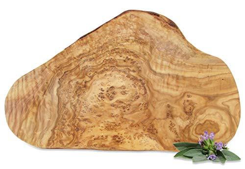 Figura Santa Olivenholzbrett Organic Servierbrett - Holzbrett - Schneidebrett. Fein gemasertes Olivenholz. Circa 30 x 18 cm.
