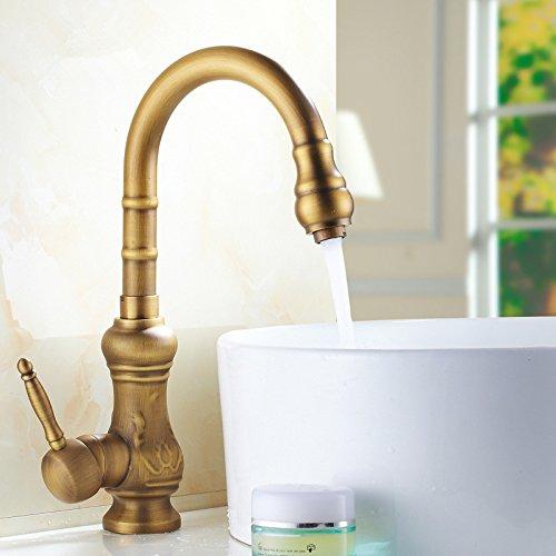 Jduskfl Badezimmeraccessoires Wasserhahn Duscharmatur F6Kitchen Wasserhahn Küche Wasserhahn Heißen Und Kalten Waschbecken Rotierende Waschbecken