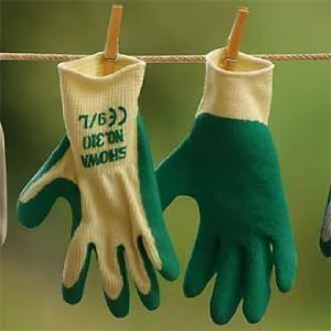 Gardening Gloves Showa 310 Grip Green Gloves - Tool Handler - Medium