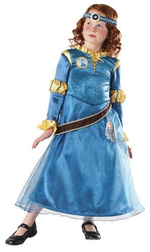 Rubie's Brave Merida Deluxe Kostüm Talla S (3 - 4 años) türkis