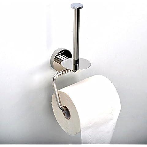 aothpher Soporte Creative rollo de papel de WC de moderno tejido montado en la pared Baño Estante, acero inoxidable 304, acabado cromado