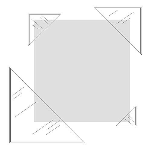 Klebeshop24 DREIECKTASCHEN SELBSTKLEBEND | KLEBEECKEN | Transparente Fotoecken | FORMAT WÄHLBAR | 20 oder 100 Stück | Ecken zum Einkleben / 50 mm x 50 mm 20 Stück