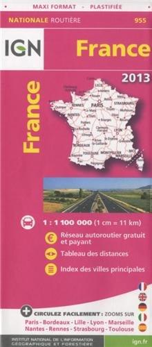 955 FRANCE MAXI FORMAT PLASTIFIEE 2013  1/1M