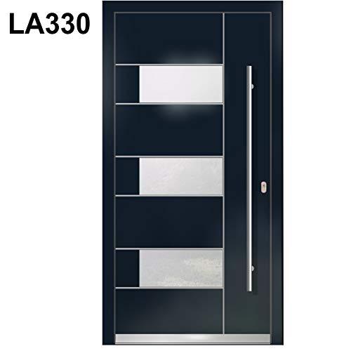 Haustür Welthaus WH94 RC2 Premiumtür Aluminium mit Kunststoff LA330 Tür nach mass gemacht Farbe aussen Anthrazit Innen weiß außengriff BGR1400 innendrucker M45 Zylinder 5 Schlüßel