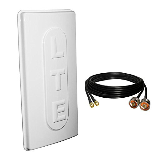 Set of 3G/4G LTE 17dBi Outdoor Panel Antenna 1800MHz SMA Male - 5m