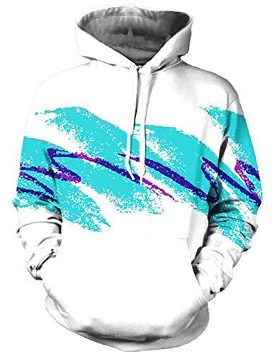 Rave on Friday Druck Sweatshirt 3D Grafik Hoodie Jazz Solo Cup Cool Kapuzenpullover Tunnelzug Lange Ärmel Tops Pullover XL