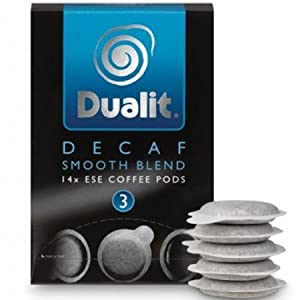 Dualit Decaf Smooth Blend Coffee Pods (Pack of 14)