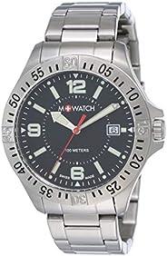 M-WATCH Swiss Made Aqua Steel 42 Analog Black Dial Men's Watch-WBX.4422