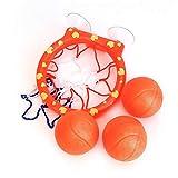 Spaß Basketball Hoop & Balls, Badewanne Shooting Game, Spielset für kleine Jungen & Mädchen, für Kinder & Kleinkinder, Saugnäpfe, die auf jeder flachen Oberfläche haften, 3 Bälle enthalten