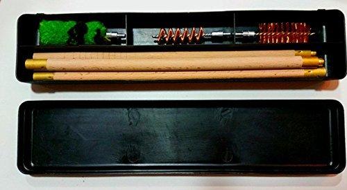 e Fass Holz reinigungs-set 12g 12 Maß Bohrung stangen Bürsten Durchzug Mopp (Schrotflinte Bohrung)