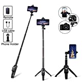 Auslese™ 2 in 1 Extendable Selfie Stick Tripod with Bluetooth Wireless Remote