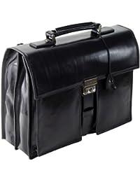 b4a343de6ebe The BRIDGE Leather Bag Italian bag Briefcase Black STORY UOMO 41 cm  06447901 20