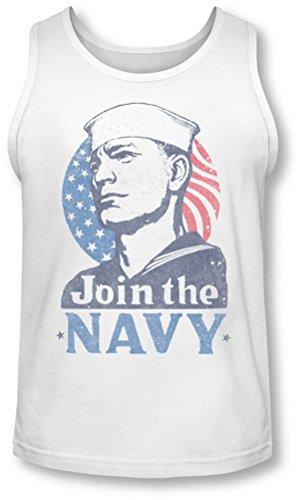 Navy - Herren Jetzt Mitglied werden Tank-Top White
