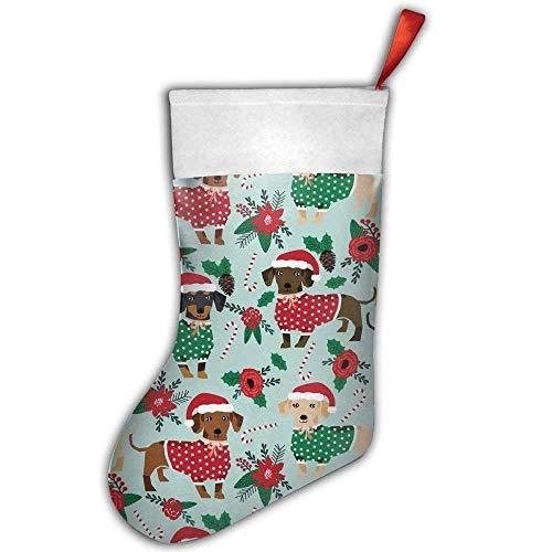 Fedso Weihnachts-Pullover, süße Dackel, Weihnachtsstrumpf, Basteln, Urlaub, Hängende Socken, Ornamente Dekoration, Weihnachtsstrümpfe -