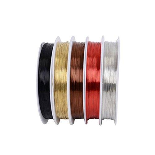 ULTNICE 5 rollo alambre cobre sin revestimiento manchar