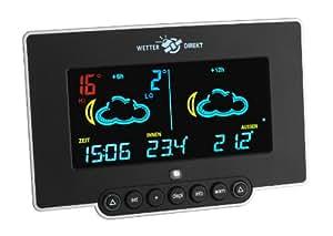 TFA Dostmann satellitengestützte Funkwetterstation Neon 300 mit farbigem Display 35.5054