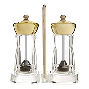 Premier Housewares 0507239 Salt & Pepper Mill Set, Ceramic, Metal, PS - Polystyrene