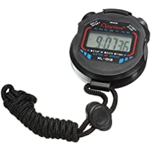 Orologio sportivo digitale - TOOGOO(R) Orologio sportivo digitale LCD multifunzionale con temporizzatore di cavo nero