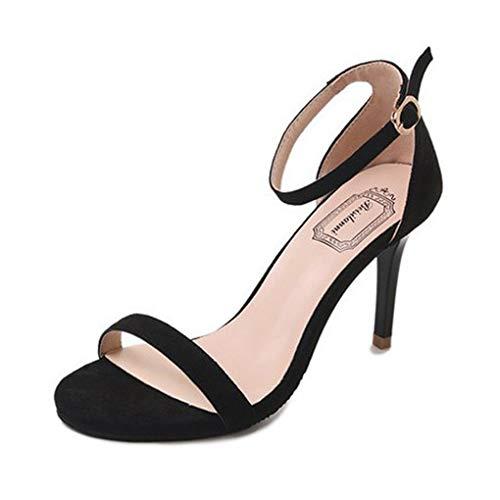 Dorical Damen Pumps High Heels Spitze Zehe Klassische Stiletto Schuhe Sandalen Sexy Damenschuhe Slingback Peep Toe Sandalen Öffnen Zehe Stiletto Schuhe Elegant Party-Schuhe(Schwarz,38 EU)