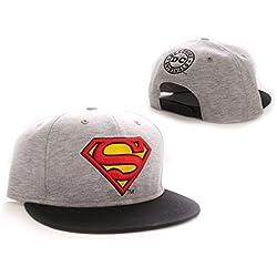 Superman Gorra Béisbol Vintage Logo grey