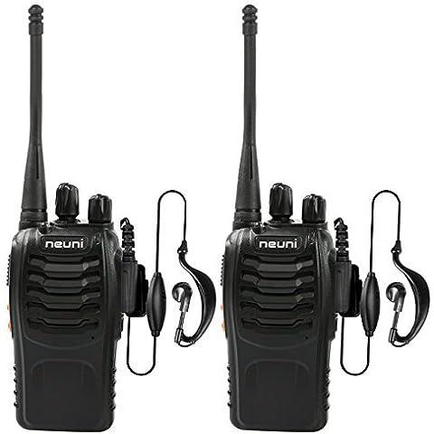 NEUNI Walkie Talkie Ricetrasmettitore UHF 400-470MHz 16 Canali Ricetrasmittente con