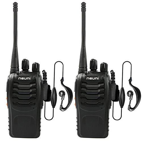 NEUNI Walkie Talkie Ricetrasmettitore UHF 400-470MHz 16 Canali Ricetrasmittente con Auricolare 5W 2 Pezzi