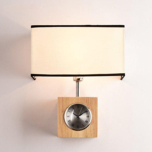 Wandleuchte Wandleuchte Vintage Hängenden Wandleuchte Schlafzimmer Wohnzimmer Licht Gang Schmiedeeisen Korridor Wandbeleuchtung weiß Inklusive stille Uhr LED-Tuch (Size : B)