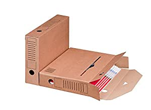 Smartbox Pro Lot de 25 boîtes archives avec fond automatique, marron