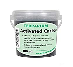 Growth Technology Ltd MDTAC180 Terrarium Activated Carbon (Charcoal) 180ML Tub