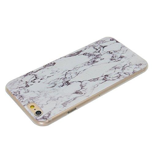 iPhone 6/6S 4,7 Coque, Voguecase TPU avec Absorption de Choc, Etui Silicone Souple Transparent, Légère / Ajustement Parfait Coque Shell Housse Cover pour Apple iPhone 6/6S 4,7 (fleur bleue 06)+ Gratui pierre
