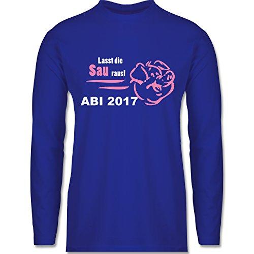 Abi & Abschluss - Lasst die Sau raus - ABI 2017 - Longsleeve / langärmeliges T-Shirt für Herren Royalblau
