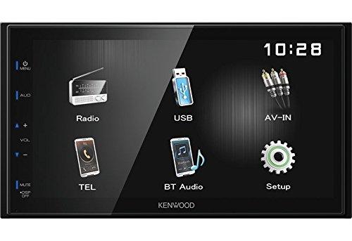 Kenwood Autoradio DMX110BT 2 DIN Bluetooth Spotify mit Einbauset für Hyundai Santa Fe 2007-2012 schwarz