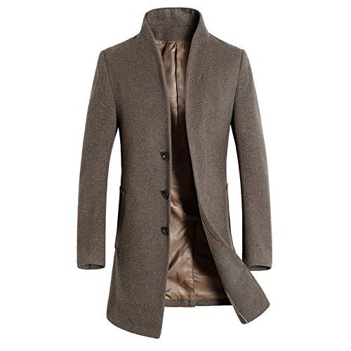 Herren Winterjacke Slim fit Jacke Business Männer Winter Lang Wollmantel Trenchcoat Business Parka...