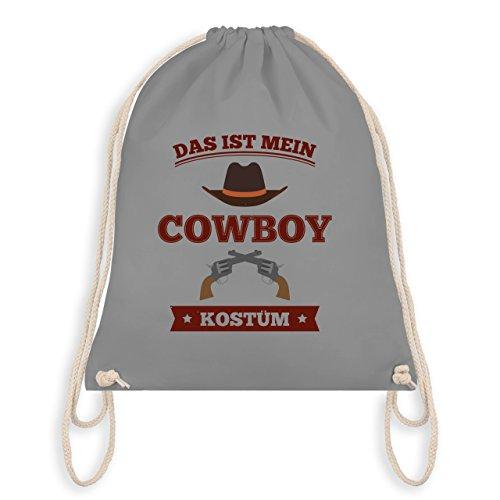 Karneval & Fasching - Das ist mein Cowboy Kostüm - Turnbeutel I Gym Bag Hellgrau