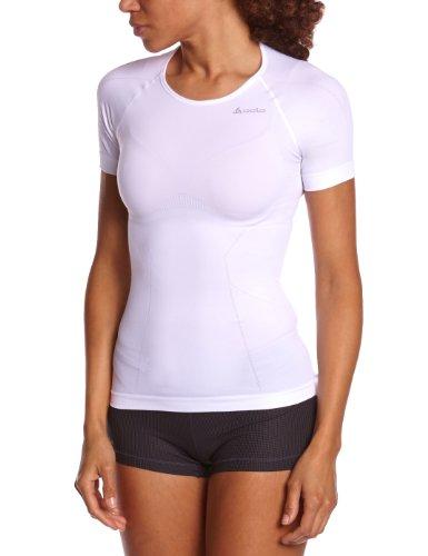 f74369f9e4d24b Odlo Damen Unterhemd Shirt kurzarm Evolution Light, White, M, 181011