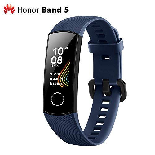 Foto Huawei Honor Band 5 FitnessTracker, Smartwatch con AMOLED Color Screen Sangue...