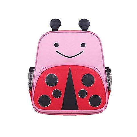 Dorapocket Children 3D Cute Cartoon Animal Backpack Kids Kindergarten Travel Bag,Ladybug