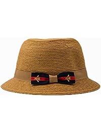 AN Sombrero Femenino Sombrero Retro de Paja de Moda Sombrero Decorativo  Sombrero de sombrilla de Viaje 9f8c51d045f