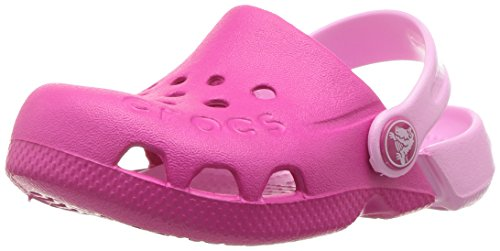 crocs Unisex-Kinder Electro Kids Clogs, Pink (Candy Pink/Carnation), 24/25 EU