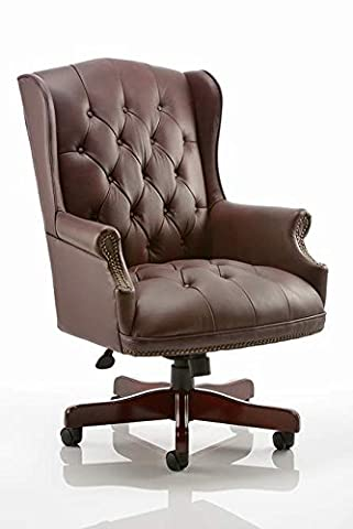 Office Elephant OE01-EX000014 Commodore Executive Chair Burgundy Leather With Arms