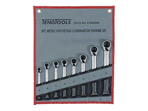TENGTOOLS 6508RMM - JUEGO DE 8 LLAVES COMBINADAS CON CARRACA